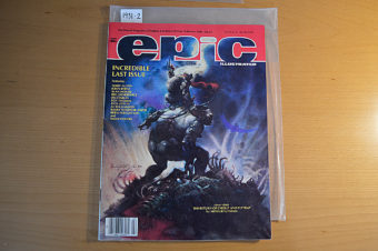 Epic Illustrated Magazine Last Issue February 1986 Arthur Suydam, John Byrne [19312]