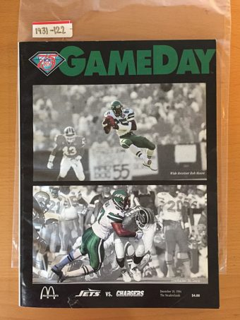 GameDay Magazine New York Jets Vs. San Diego Chargers Edition (December 18, 1994) [1931122]