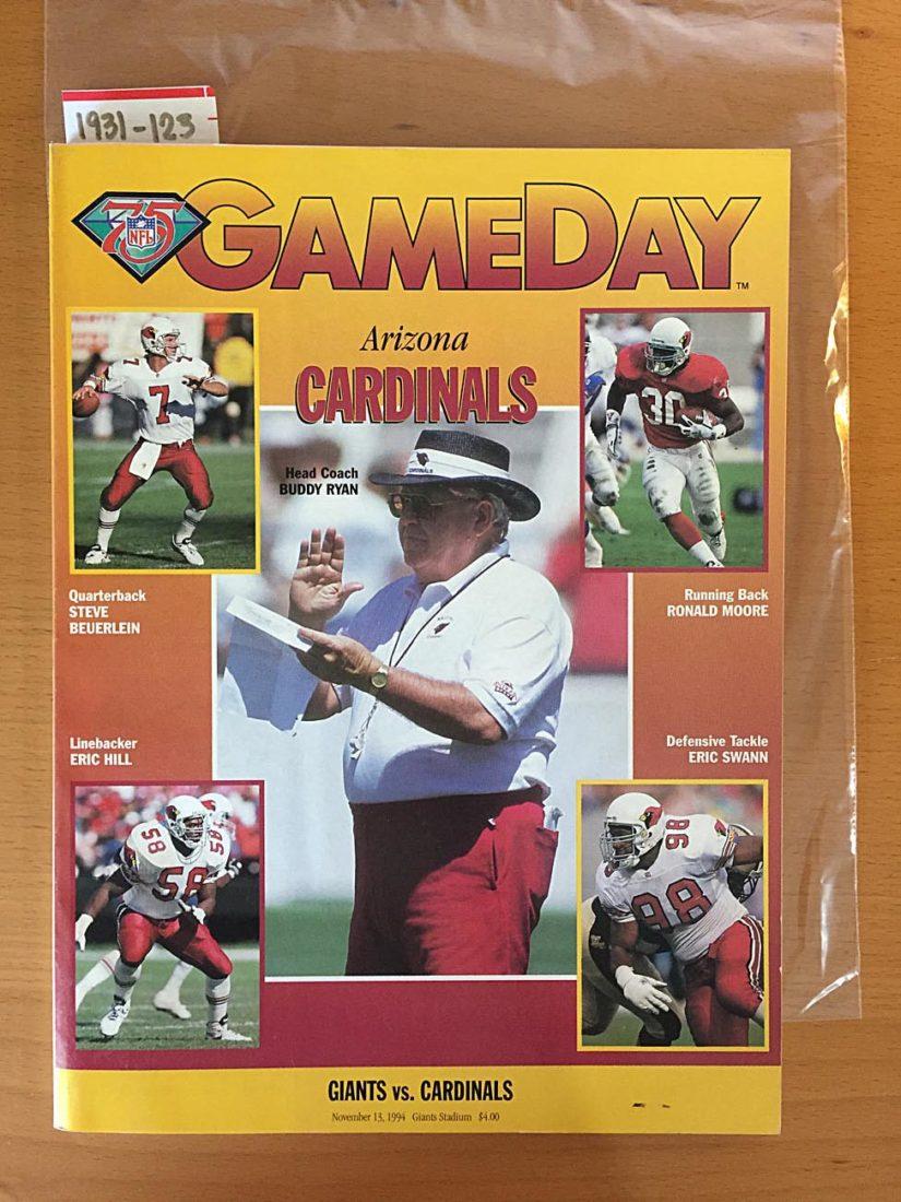 GameDay Magazine New York Giants Vs. Arizona Cardinals Edition (November 13, 1994) [1931123]
