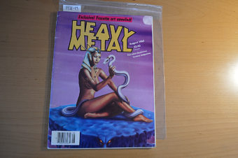 Heavy Metal Magazine Frank Frazetta Artwork Reveal (August 1985) [193113]