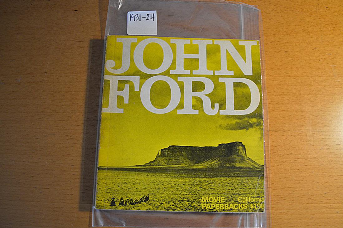 John Ford by Peter Bogdanovich – Movie Paperbacks (1st American Edition 1968)