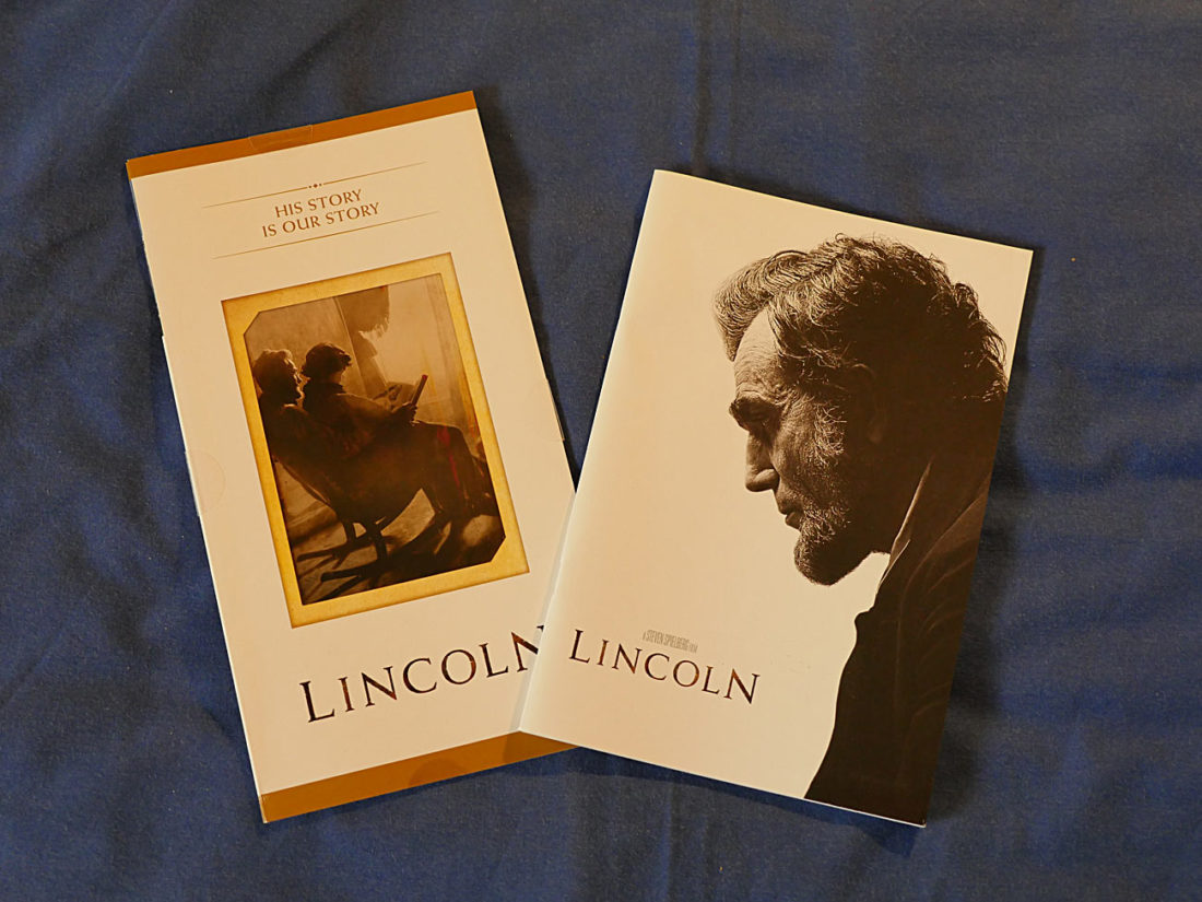 Steven Spielberg's Lincoln Publicity Brochure and Press Book Set