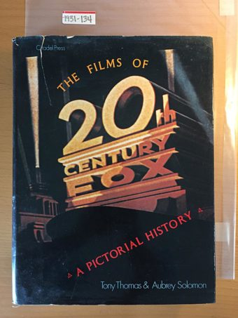 The Films of 20th Century-Fox: A Pictorial History Hardcover (1979, 1985)