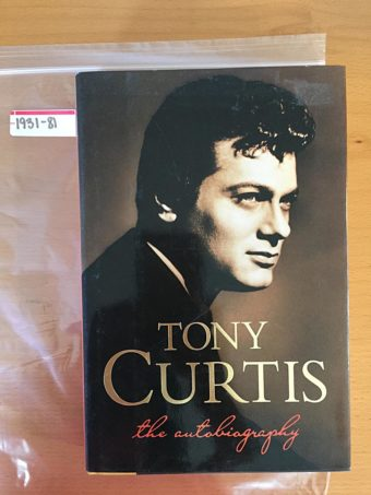 Tony Curtis: The Autobiography Hardcover (First Edition 1993) [193181]