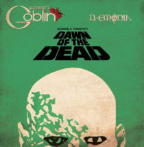 Dawn of the Dead Soundtrack 40th Anniversary Edition Colored Lime Vinyl Plus Poster by Claudio Simonetti's Goblin