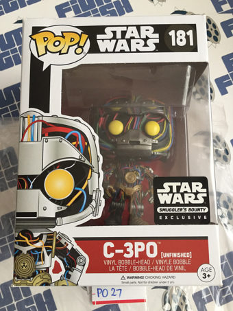 Funko POP Star Wars Unfinished C-3PO Exclusive Bobble-Head Figure #181