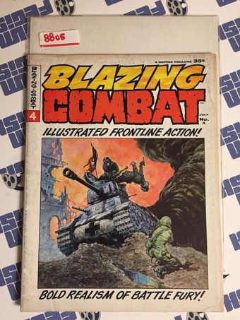 Blazing Combat #4 Warren Magazine, Frank Frazetta Cover, Wally Wood, Gray Morrow (1966) [8805]