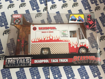 Marvel Deadpool Collectible Figurine with Taco Truck Die-cast Truck 1:24 Scale Vehicle