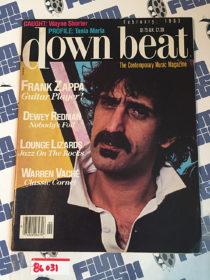 Down Beat Magazine Frank Zappa, Dewey Redman, Lounge Lizards, Warren Vache (February 1983)