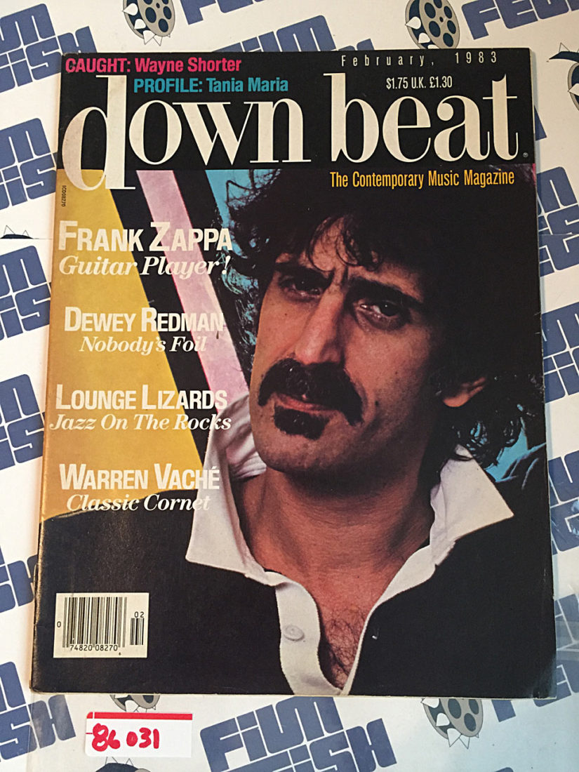 Down Beat Magazine Frank Zappa, Dewey Redman, Lounge Lizards, Warren Vache (February 1983)