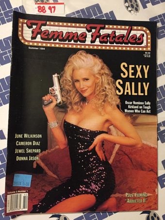 Femme Fatales Magazine Sally Kirkland, Cameron Diaz, June Wilkinson (Vol 3 No 1, Summer 1994) [8897]