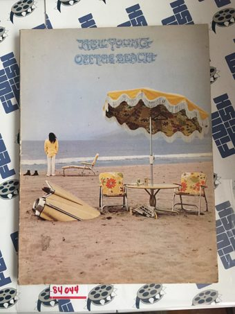 RARE Neil Young On the Beach Lyrics, Sheet Music and Comic Magazine (1974) [84044]
