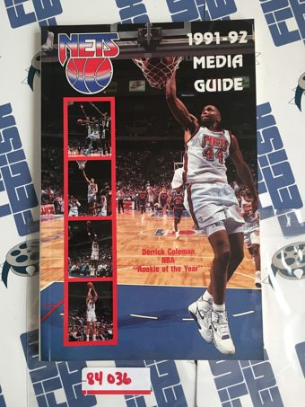 New Jersey (Brooklyn) Nets 1991-92 Season Media Guide Program