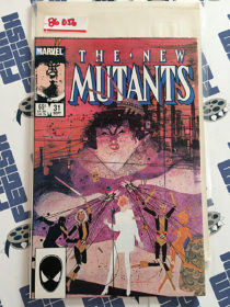 The New Mutants #31 VF/NM Bill Sienkiewicz cover art