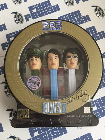 Elvis Presley Limited Edition PEZ Dispenser 3-Pack Collectible Set with Audio CD (2007)