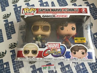 Funko POP Marvel Gamerverse Captain Marvel Vs. Chun Li Hot Topic Exclusive P13