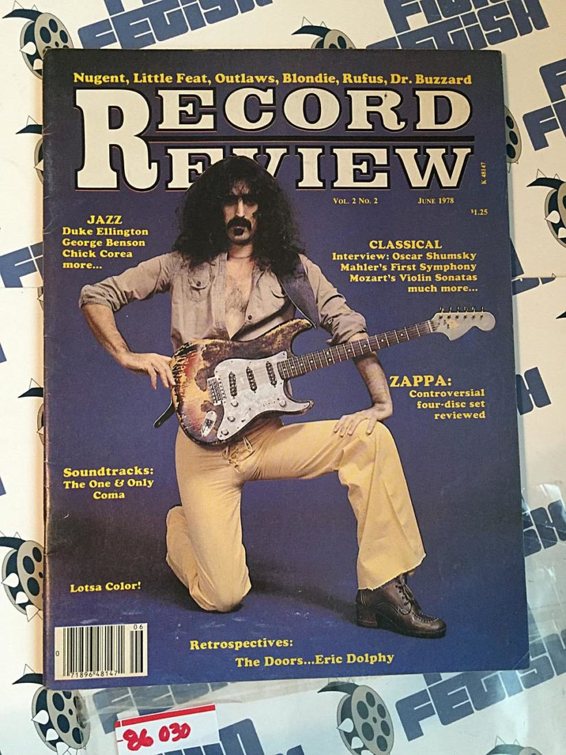 Record Review Magazine (June 1978) Frank Zappa, Nugent, Little Feat, Outlaws, Blondie, Rufus, Dr. Buzzard 86030
