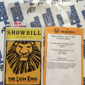 Showbill The Lion King at New Amsterdam Theatre (June 18, 2005) [8816]