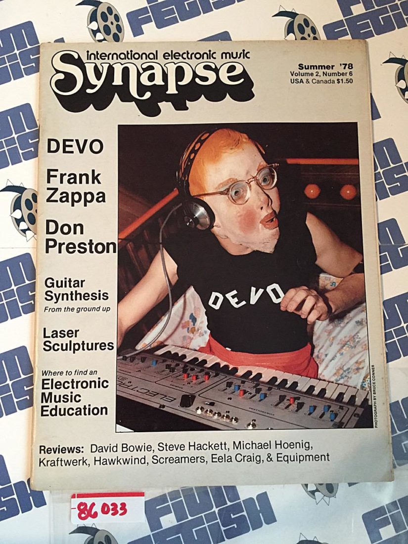 Synapse International Electronic Music Magazine (Summer 1978, Vol. 2, No. 6) DEVO, Frank Zappa, Don Preston, Kraftwerk, David Bowie