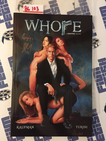 Whore: A Graphic Novel Hand Signed by Jeffrey Kaufman RARE