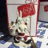 Lenox Looney Tunes Bugs Bunny Santa Holiday Ornament 4.5 Inch