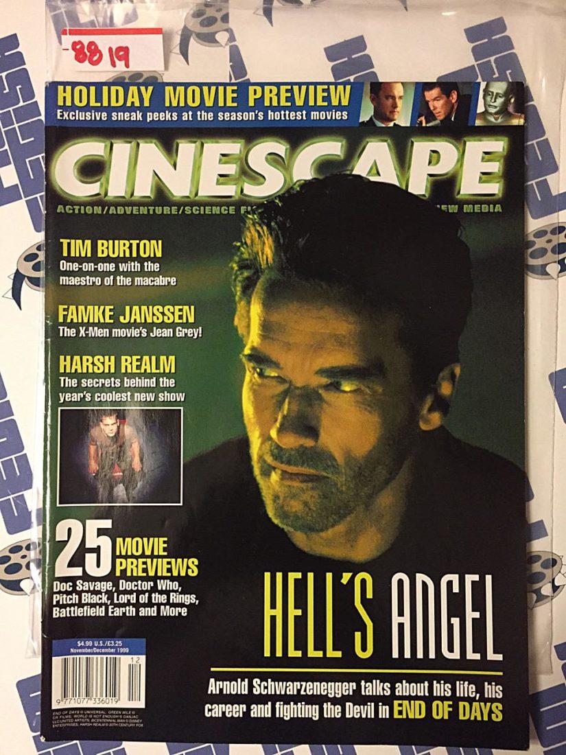 Cinescape Magazine (Nov/Dec 1999) Arnold Schwarzenegger, Tim Burton, Famke Janssen, Harsh Realm