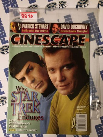 Cinescape Magazine (Sept/Oct 1996) Star Trek, William Shatner, Leonard Nimoy, Patrick Stewart, David Duchovny 8823