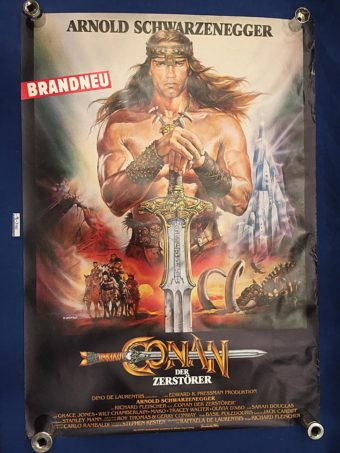 Conan the Destroyer 24 x 33 inch Original German Movie Poster (1984) [9330]