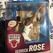 McFarlane Toys NBA Series 24 Derrick Rose SIGNED RARE Bronze Collector Level Action Figure White Jersey MVP Trophy