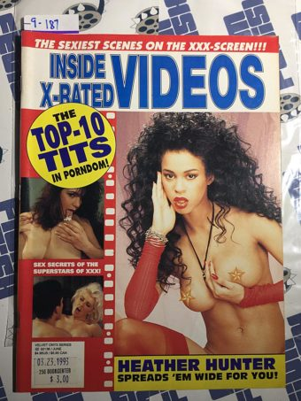 Inside X-Rated Videos Magazine (June 1993) Heather Hunter [9187]