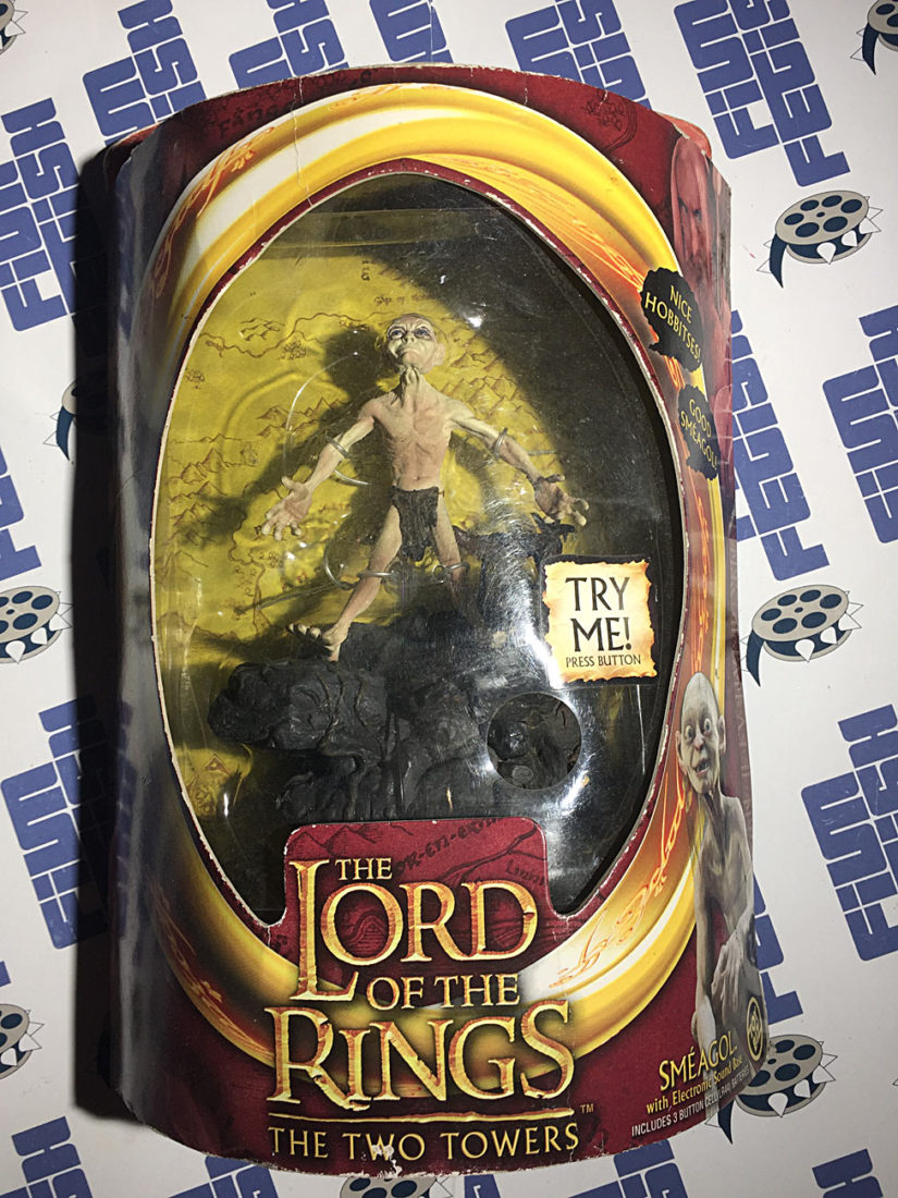 Lord of the Rings: The Two Towers Smeagol Action Figure with Electronic Sound Base