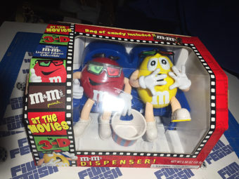 M&M's Candy Dispenser At the Movies with 3D Glasses Collectible