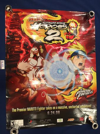 Naruto Ultimate Ninja Heroes 2 – The Phantom Fortress 19×23 inch Promotional Poster (2008) 9323