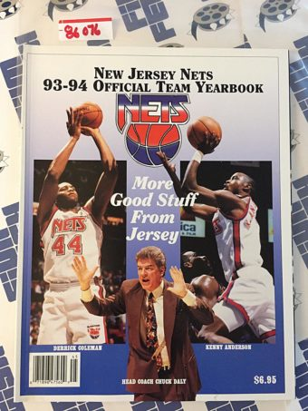 New Jersey Nets 93-94 Official Team Yearbook, Derrick Coleman, Kenny Anderson, Chuck Daly