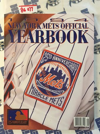 1994 New York Mets Official Yearbook 25th Miracle Mets Anniversary Edition