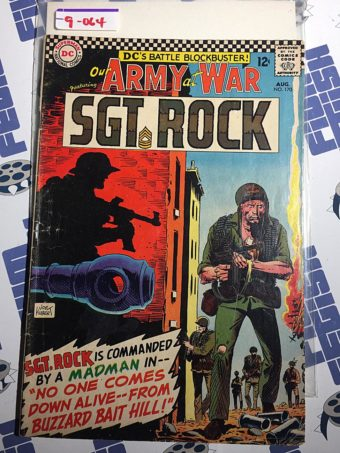 Our Army at War Sgt. Rock Comic (No. 170, August 1966) Joe Kubert [9064]