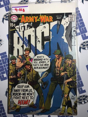 Our Army at War Sgt. Rock Comic (No. 219, May 1970) Joe Kubert [9068]