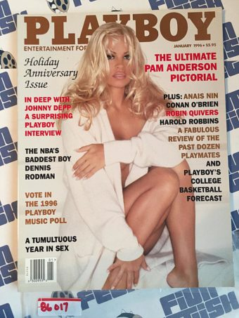 Playboy Magazine (January 1996) Ultimate Pamela Anderson Pictorial, Johnny Depp, Anais Nin [86017]