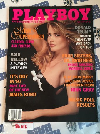 Playboy Magazine (May 1997) Donald Trump, Saul Bellow, John Gray, James Bond [86018]