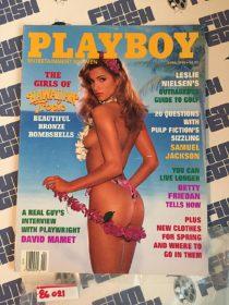 Playboy Magazine (April 1995) Leslie Nielsen, Samuel L. Jackson, David Mamet [86021]