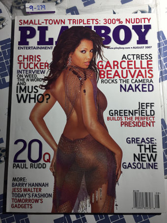 Playboy Magazine (August 2007) Garcelle Beauvais, Chris Tucker, Jeff Greenfield, Paul Rudd [9279]