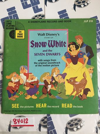 Walt Disney's Story of Snow White and the Seven Dwarfs – A Disneyland Record and Book (1966) [84012]