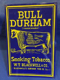 Bull Durham Smoking Tobacco Vintage 8×12 inch Metal Sign