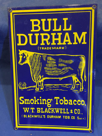 Bull Durham Smoking Tobacco Vintage 8×12 inch Metal Sign