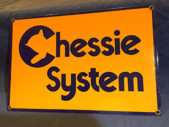 Chessie System Metal or Porcelain 12 x 8 inch Sign
