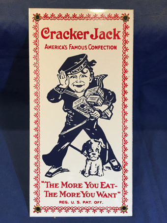 Cracker Jack Vintage Advertising 6×12 inch Metal or Porcelain Sign