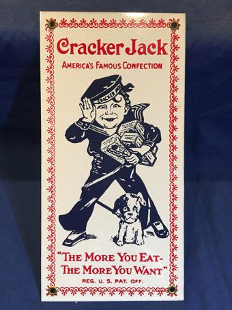 Cracker Jack Vintage Advertising 6×12 inch Metal or Porcelain Sign