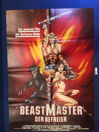 Don Coscarelli's The Beastmaster 23 x 33 inch German Movie Poster (1982) [9344]