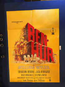 Ben-Hur 23×33 inch Original German Movie Poster (1959) Charlton Heston [9345]