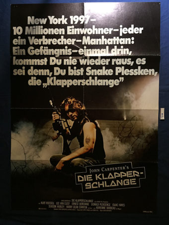 John Carpenter's Escape From New York 23×33 inch German Movie Poster (1981) [9340]